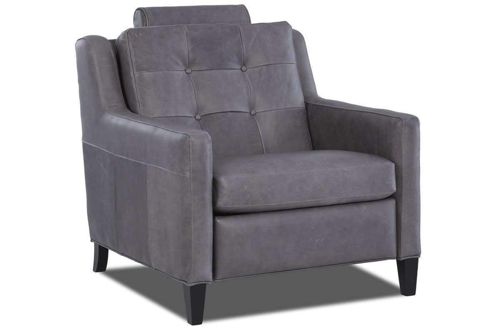 ... Leather Furniture Lowry Mid Century Modern Power Wall Hugger Reclining  Chair ...