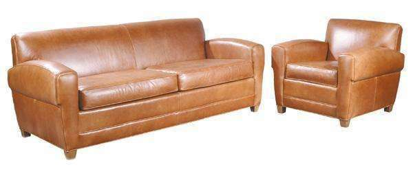 "Leather Furniture Madison ""Designer Style"" Leather Sofa Set"