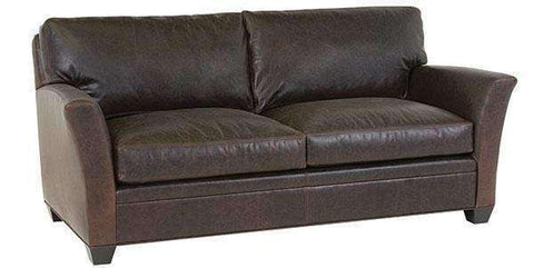 "Leather Furniture Norman ""Designer Style"" Transitional Leather Apartment Couch"