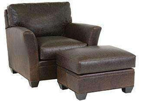 "Leather Furniture Norman ""Designer Style"" Transitional Leather Chair"