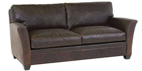 "Leather Furniture Norman ""Designer Style"" Transitional Leather Loveseat"
