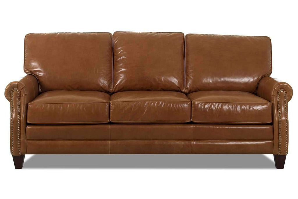 Oswald 73 inch studio apartment leather sofa 2 cushion - Couch for studio apartment ...