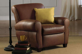 Parker Leather Club Chair Like Manhattan