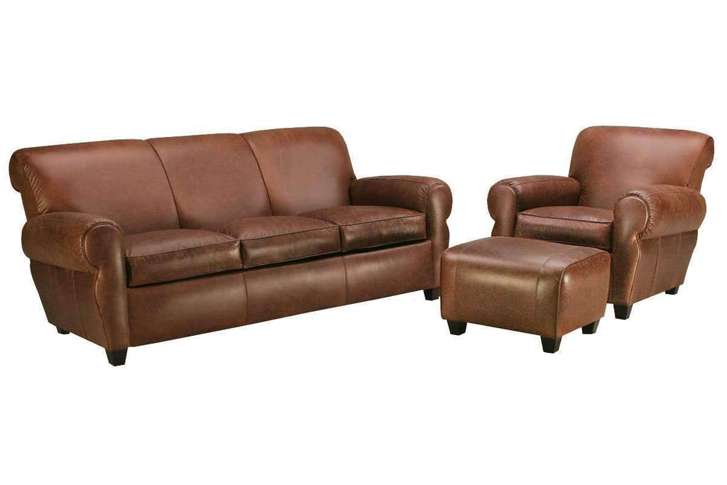 Stupendous Parker Leather Manhattan Style 3 Piece Living Room Sofa Set Ncnpc Chair Design For Home Ncnpcorg