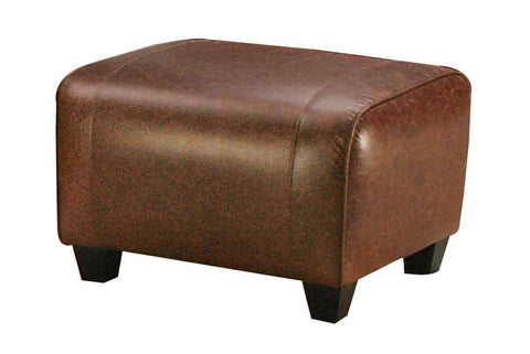 Leather Furniture Parker Leather Roll Top Footstool Ottoman