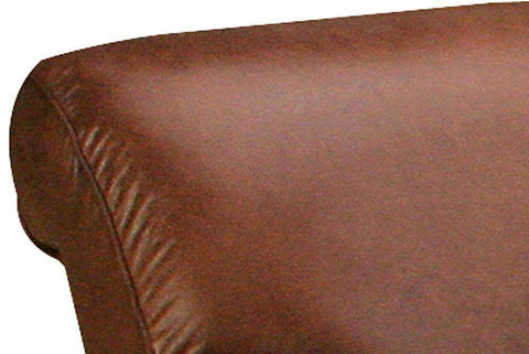 Leather Furniture Parker Rolled Leather Sofa And Recliner Two Piece Set