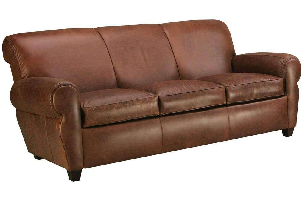 Leather Furniture Traveler Collection: Parker Designer Style Leather Club Style Living Room