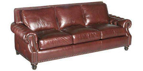 "Leather Furniture Richardson ""Designer Style"" Grand Scale Tufted Arm Sofa"