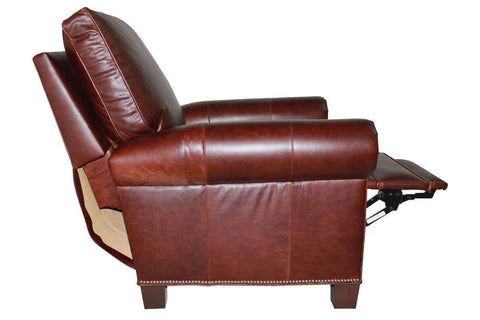 "Leather Furniture Rockefeller ""Designer Style"" Leather Recliner"