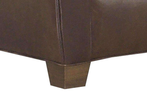 "Leather Furniture Rockefeller ""Designer Style"" Traditional Leather Loveseat"