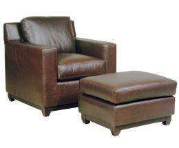 Leather Furniture Ronald Modern Leather Club Chair