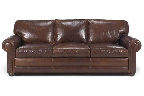 Leather Furniture Sheffield Deep Seated Select-A-Size Extra Large Leather Sofa