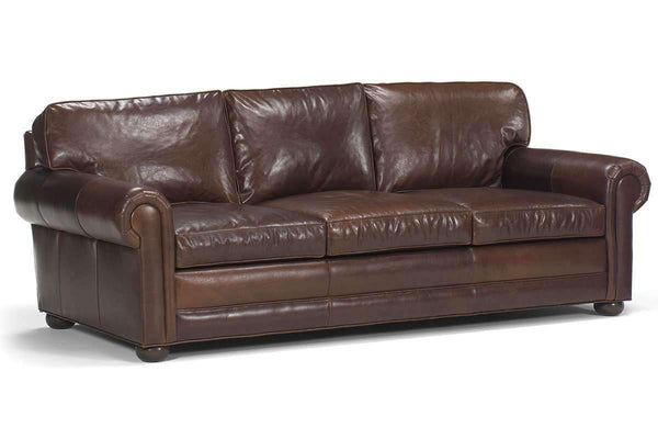Leather Furniture Sheffield Grand Scale 2 Seat Leather Loveseat With Deep Seats