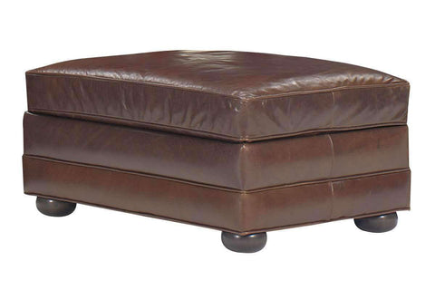 Leather Furniture Sheffield Grand Scale Leather Ottoman