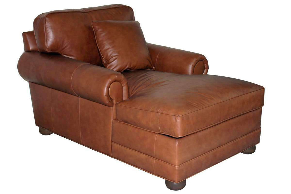 ... Leather Furniture Sheffield Leather Two Arm Chaise Lounge Chair ...