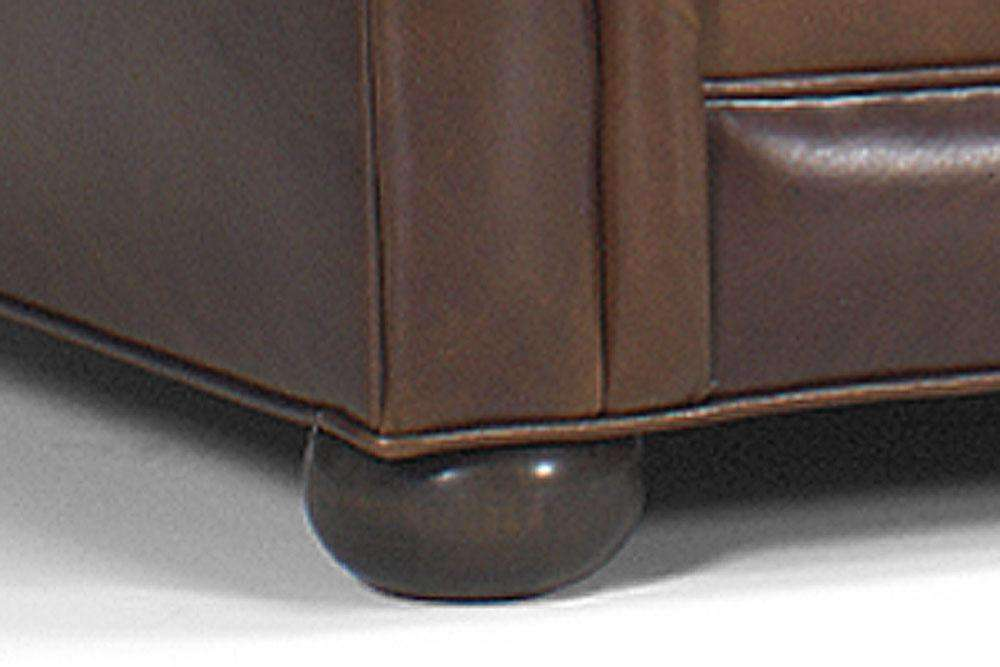 Sheffield Leather Two Arm Chaise Lounge Chair