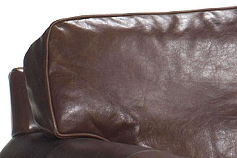 Leather Furniture Sheffield Leather Two Arm Chaise Lounge Chair