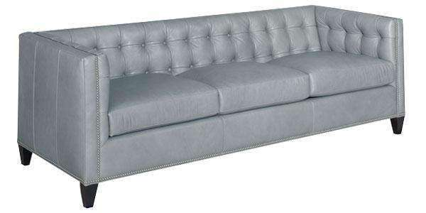 "Leather Furniture Sherwood ""Designer Style"" Shelter Arm Tufted Sofa"