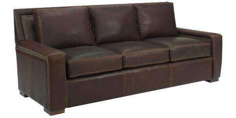 Leather Furniture Smith Grand Scale 8-Way Hand Tied Leather Sofa