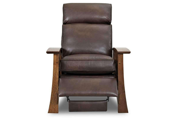 Leather Furniture Stockton Leather Mission Arts And Crafts Style Reclining Chair