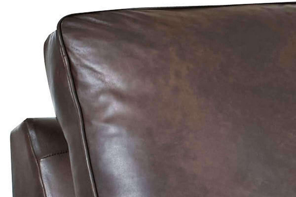 Leather Furniture Stockton Leather Mission Queen Sleeper Sofa