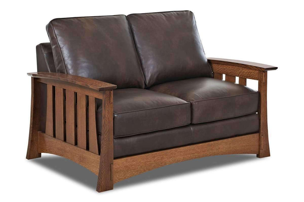Stockton Mission Leather Collection - Arm Chair, Recliner, Loveseat ...