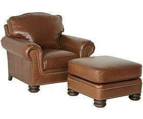 "Leather Furniture Theodore ""Designer Style"" Traditional Leather Club Chair"