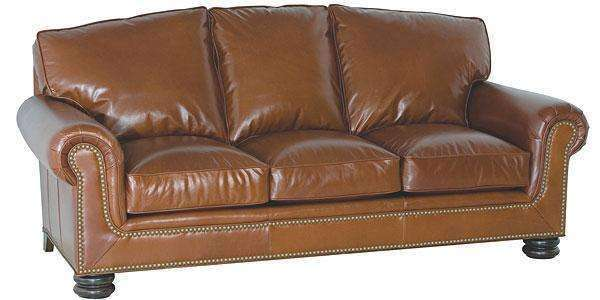 "Leather Furniture Theodore ""Designer Style"" Traditional Leather Queen Sleep Sofa"