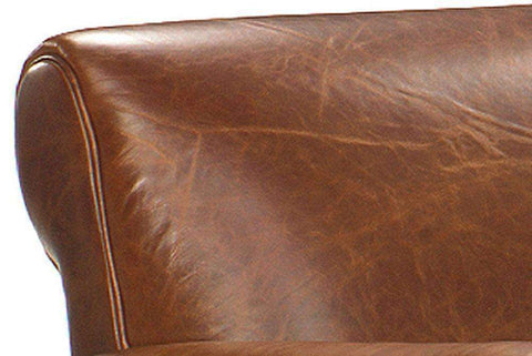 Leather Furniture Tribeca Rustic Leather Queen Sleep Sofa