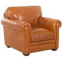 Leather Furniture Wayne Traditional Leather Chair
