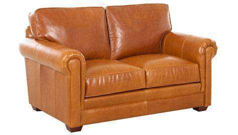 Fabulous Wayne Traditional Leather Loveseat Pabps2019 Chair Design Images Pabps2019Com