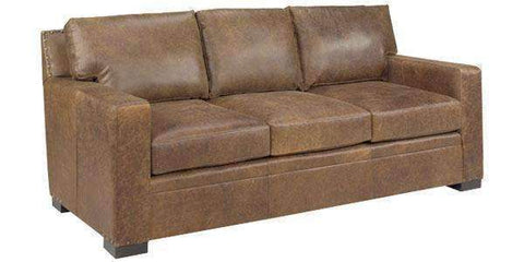 Leather Furniture Wellington Track Arm Leather Studio Size Sofa