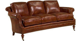 "Leather Furniture Wilson ""Designer Style"" Conversational Leather Sofa"