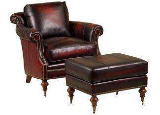 "Leather Furniture Wilson ""Designer Style"" Traditional Leather Chair"