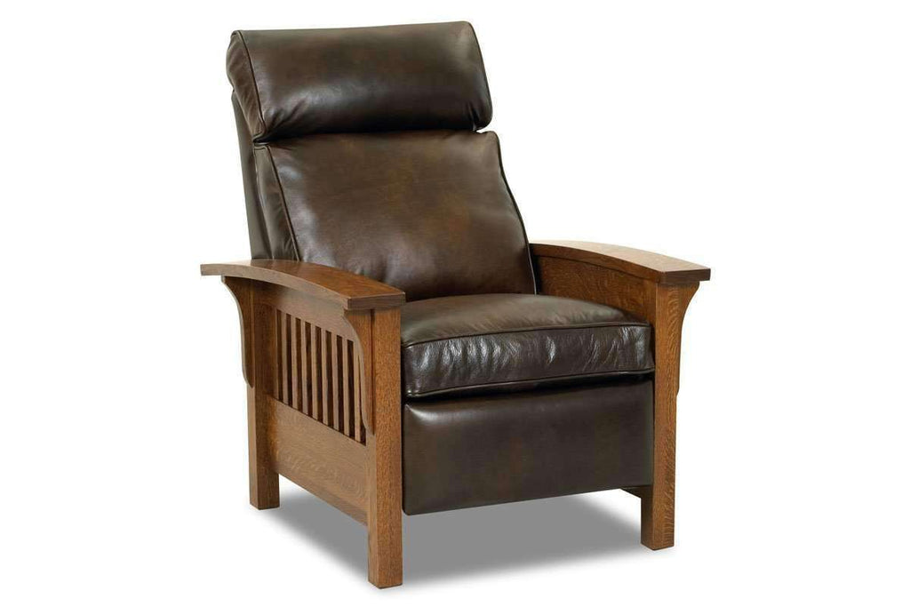 Aldrich Arts And Crafts Style Mission Leather Recliner Chair