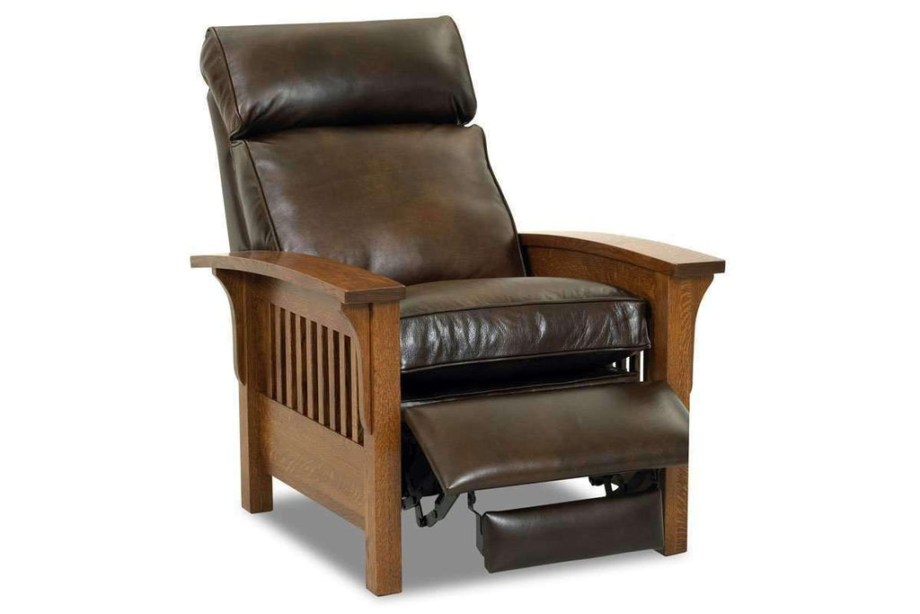 ... Leather Recliner Aldrich Arts And Crafts Style Mission Leather Recliner  Chair ...