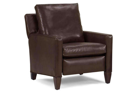 Leather Recliner Alvin High Leg Leather Pillow Back Recliner
