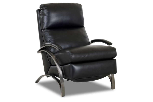 Leather Recliner Anton Contemporary Leather With Metal Frame Recliner Chair