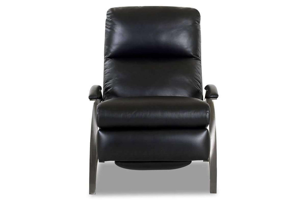 ... Leather Recliner Anton Contemporary Leather With Metal Frame Recliner  Chair ...