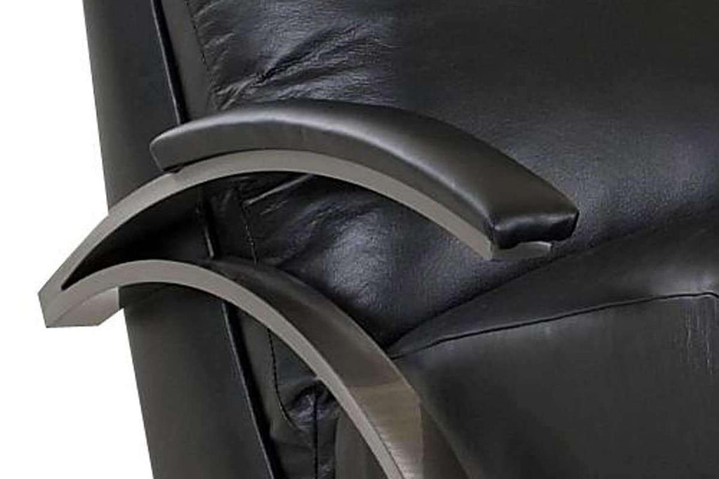 Anton Contemporary Leather With Metal Frame Recliner Chair