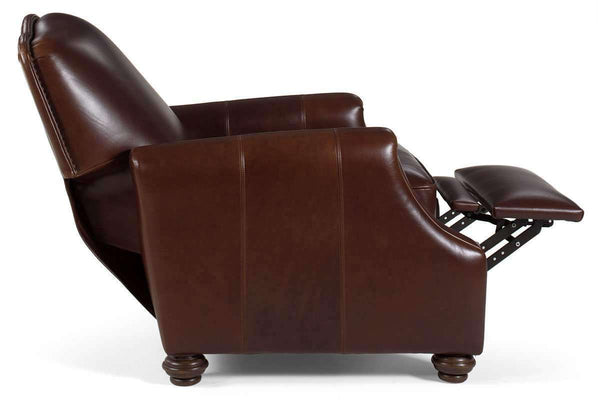 Leather Recliner Ashford Tight Camel Back Small Leather Recliner