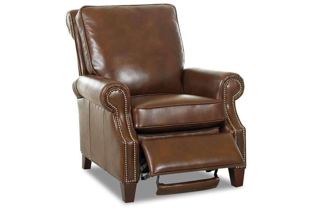 Attractive ... Leather Recliner Bronson Pillow Back Leather Reclining Armchair ...