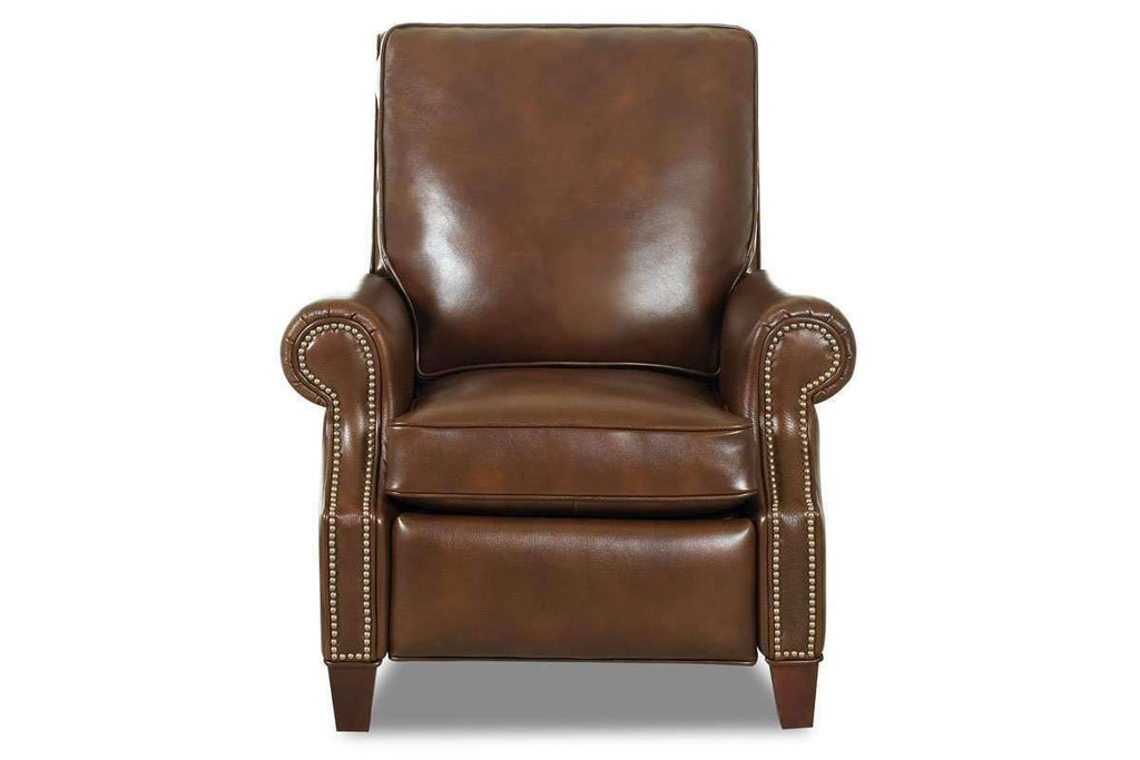 Enjoyable Bronson Pillow Back Leather Reclining Armchair Gmtry Best Dining Table And Chair Ideas Images Gmtryco