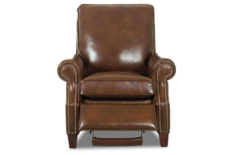 Leather Recliner Bronson Pillow Back Leather Reclining Armchair