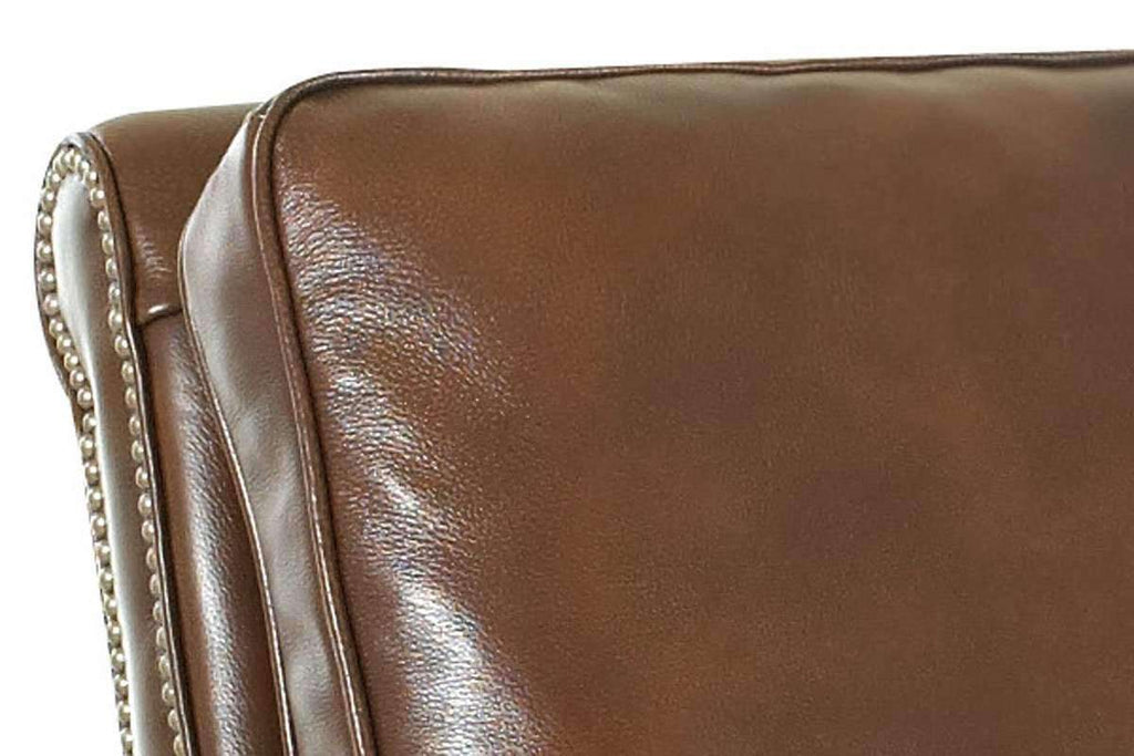 Fabulous Bronson Pillow Back Leather Reclining Armchair Gmtry Best Dining Table And Chair Ideas Images Gmtryco