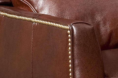 Leather Recliner Buckley Bustle Back Leather Recliner