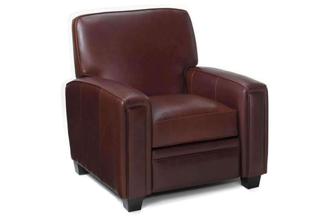 Leather Recliner Burton Square Tight Back Leather Recliner