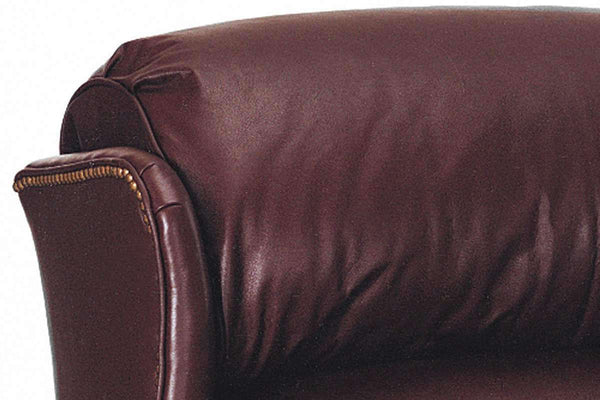 Leather Recliner Calhoun Leather Bustle Back Chippendale Recliner