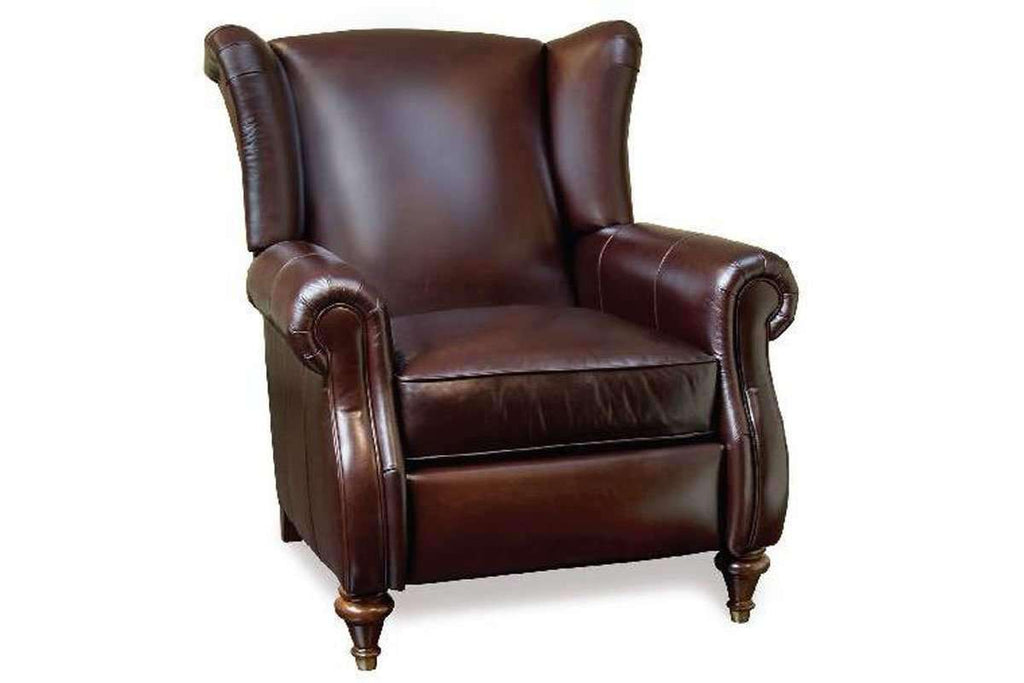 Picture of: Chamberlain Leather Wingback Recliner Chair With Rolled Arms