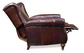Chamberlain Leather Wingback Recliner Chair With Rolled Arms